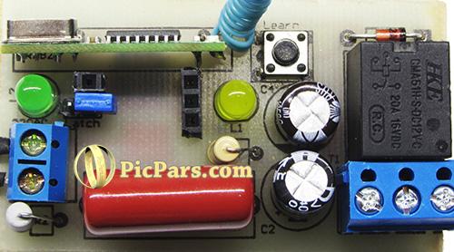 پروژه تجاری تولیدی ریموت کنترل 433-315 مگاهرتز تک کاناله