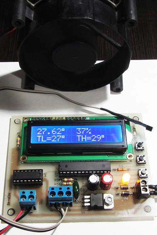 کنترل دور فن یا موتور توسط سنسور دما